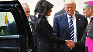 The Trumps arrive at the Vatican