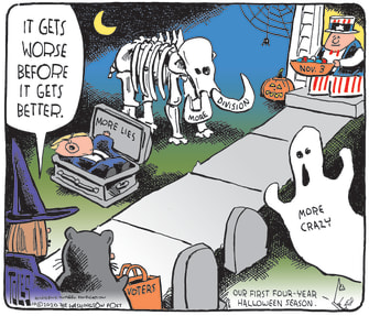 Political Cartoon Halloween Trump Election Day Voters More Division