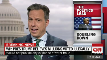 Jake Tapper is not buying what President Trump is selling on voter fraud