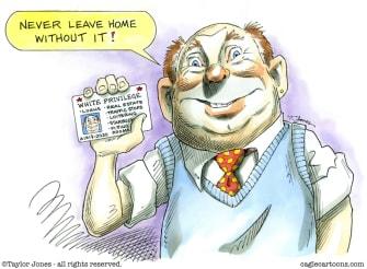 Editorial Cartoon U.S. white privilege
