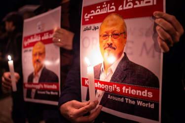 A memorial for Jamal Khashoggi.