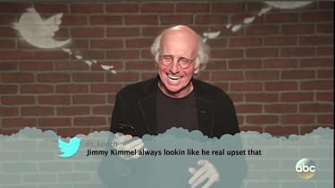 Larry David can't stop laughing