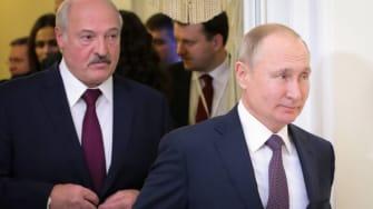 Alexander Lukashenko and Vladimir Putin.
