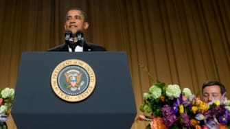The King of the Nerds, President Obama, at the 2012 White House Correspondent's Dinner.