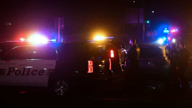 Police outside the Borderline Bar & Grill in Thousand Oaks, California