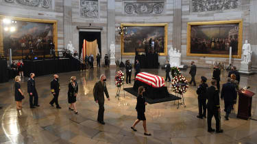 The casket of the late Rep. John Lewis