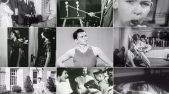 Stills from health and hygiene PSA videos from the 1940s and 1950s