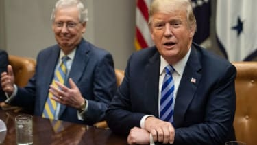 Mitch McConnell and Donald Trump.