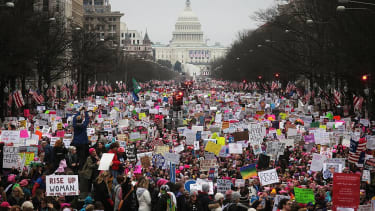 At least 500,000 people rallied in Washington for Women's March