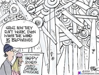 Editorial Cartoon U.S. wind power