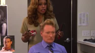 Watch Conan get some style advice from Laverne Cox on his Orange Is the New Black-themed cold open