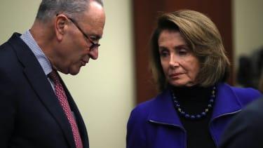 Top Democratic congressmen Chuck Schumer and Nancy Pelosi.