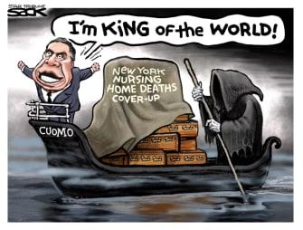 Political Cartoon U.S. cuomo nursing home deaths