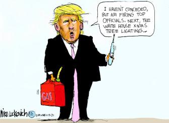 Political Cartoon U.S. Trump purge