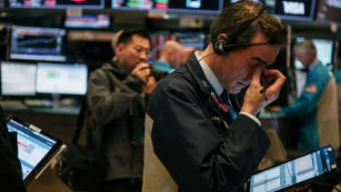 The stock market just ahead of the pandemic.