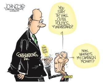 Political Cartoon U.S. mcconnell mlb georgia