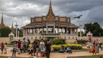 Cambodian street vendors.
