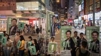 Hong Kong district council elections.