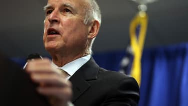 California Gov. Jerry Brown is spending more money on ballot measures ads than on his own campaign