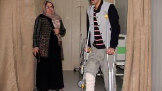 An earthquake victim in Iraq.