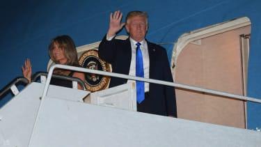 President Trump arrives in Sicily