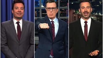 Jimmy Kimmel, Jimmy Fallon, and Stephen Colbert on Trump and dogs