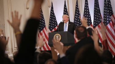 President Trump at a press conference