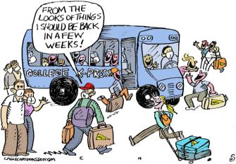 Editorial Cartoon U.S. colleges covid