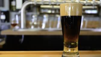 Beer at bar.