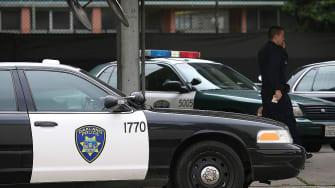 Police car in Oakland, California