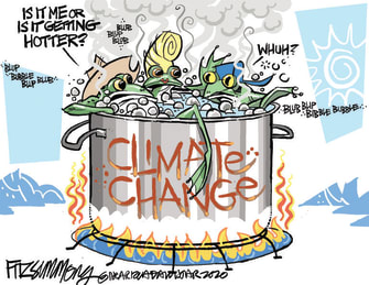 Editorial Cartoon U.S. climate change frogs