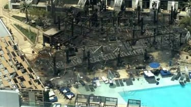 A look at damage caused by a fire at the Cosmopolitan Hotel in Las Vegas.