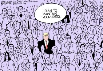 Political Cartoon U.S. Trump lawyers election loss