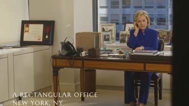 Watch Hillary Clinton and Kevin Spacey plot a birthday present for Bill