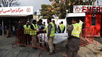 Medical staff in Kabul on November 12, 2018.