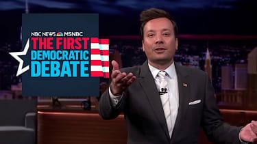 Jimmy Fallon recaps the 1st Democratic debate