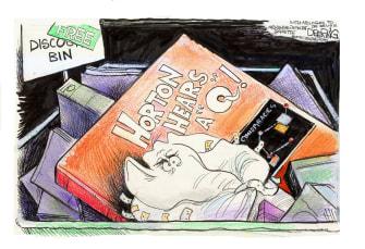 Political Cartoon U.S. horton hears a qanon dr seuss