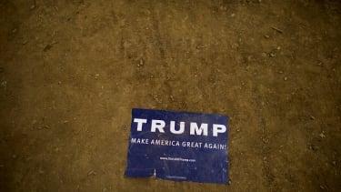 A Donald Trump sign.