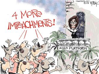 Political Cartoon U.S. Democrats 2020 Platform 4 More Impeachments