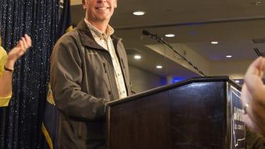 Greg Gianforte speaks to supporters