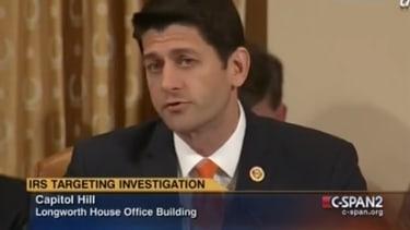 Paul Ryan slams IRS commissioner: 'Nobody believes you'