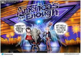 Political Cartoon U.S. matt gaetz gop