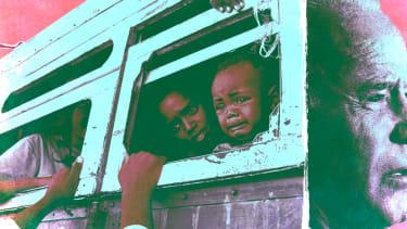 President Biden and Ethiopian migrants.