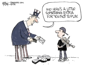 Editorial Cartoon U.S. coronavirus unemployment benefits