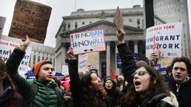 NYC students walked out of school to protest President Trump.