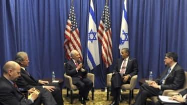President Obama meets with Israeli President Shimon Peres on Sunday: Obama and Israeli Prime Minister Benjamin Netanyahu will talk Monday bout Iran's nuclear program.