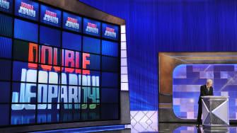 The Jeopardy! set.