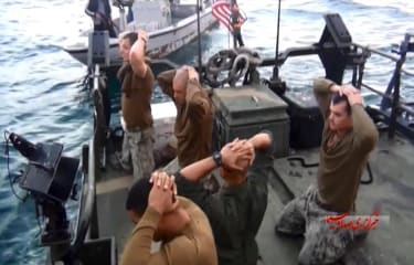 U.S. sailors during their time in custody of the Iranian government