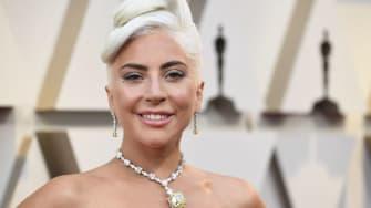 "Lady Gaga wears ""The Tiffany Diamond."""