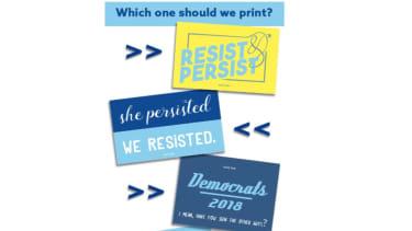 Democrat stickers.